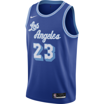 Air Jordan Nike Men's Los Angeles Lakers LeBron James Swingman Jersey Blue CN1027 404