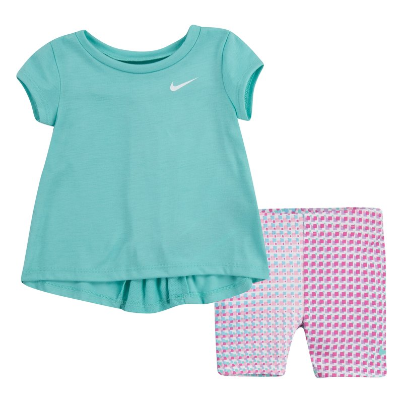 Nike Nike Toddler Pixel Pop Bike Short Set 'Tropical Twist' 16H452 F1P