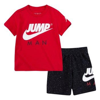 Air Jordan AirJordan Kids Jumpman Tee & AOP Short Set 'Black' 75A389 023
