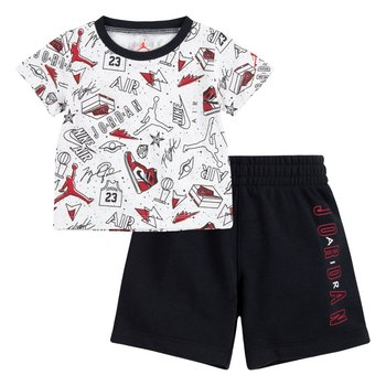 Air Jordan Air Jordan Toddler AOP Short Set 'Black' 65A398 023