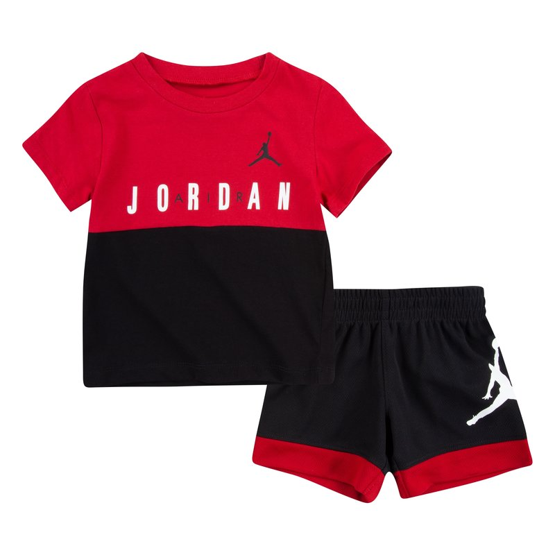 Air Jordan Air Jordan Toddler Colorblock Short Set 'Black' 65A396 023