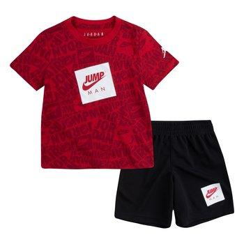 Air Jordan Air Jordan Kids Jumpman AOP Short Set 'Black' 75A358 023
