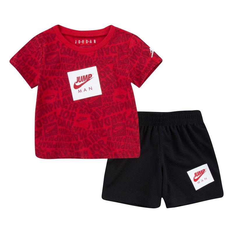 Air Jordan Air Jordan Toddler Jumpman AOP Short Set 'Black' 65A358 023