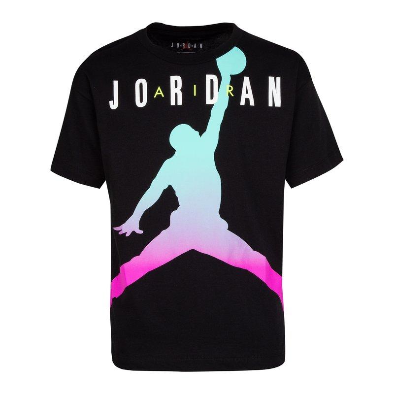 Air Jordan Air Jordan Youth Girls Fadeaway Tee 'Black/White' 457884 K25