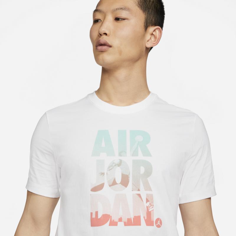 Air Jordan Air Jordan Mens GFX  Tee 'White' DC9354 100