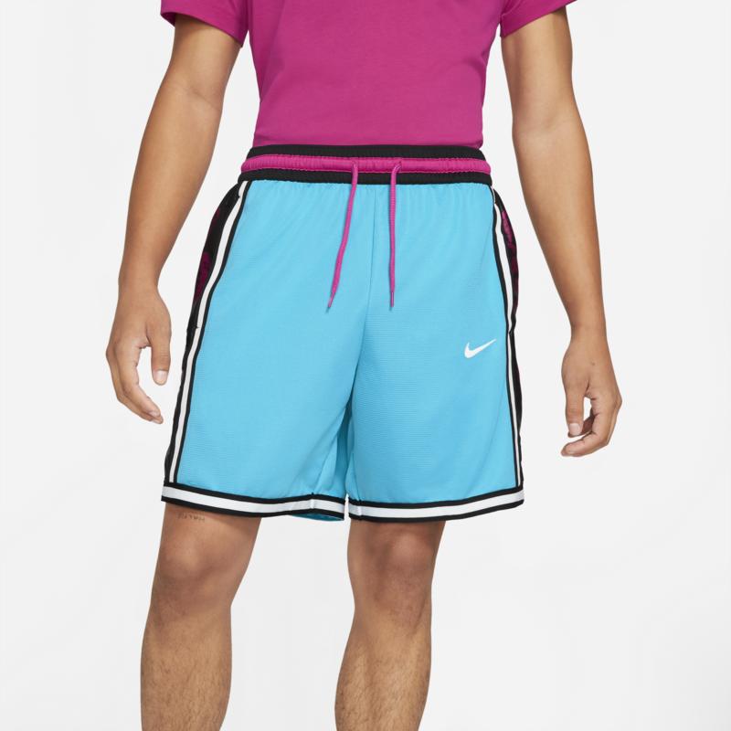 Nike Nike Men's DNA DRI FIT BASKETBALL SHORTS Light Blue Fury/Black Floral  CV1897 434