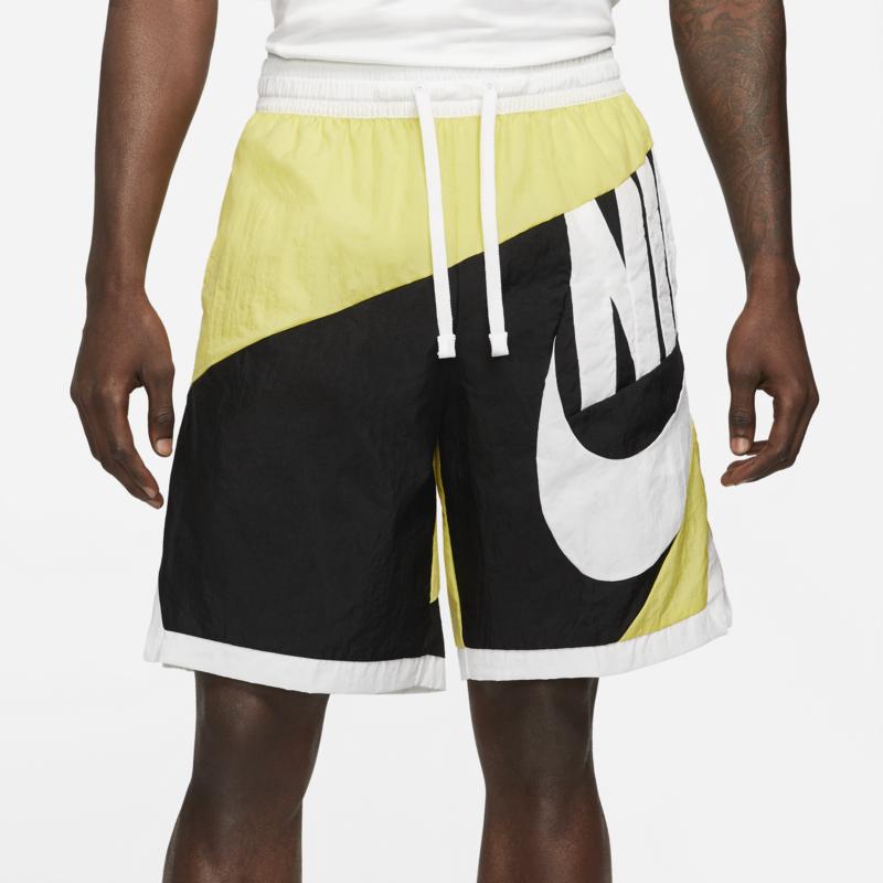Nike Nike Men's Dri-FIT Throwback Futura Basketball Shorts Yellow/White/Black CV1829 700