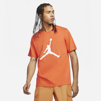 Air Jordan Air Jordan Mens Classic Jumpman Tee 'Orange/White' CJ0921 840
