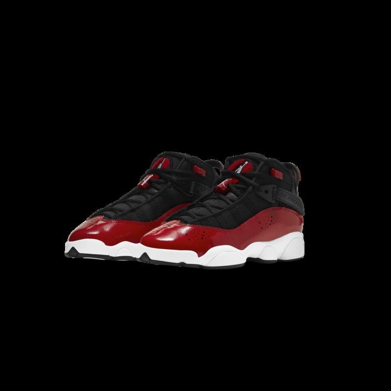 Air Jordan Air Jordan 6 Rings Black/White/Gym red Grade school 323419 060