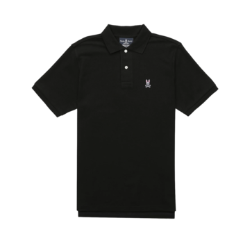 Psycho Bunny PSYCHO BUNNY Men's Cotton Piqué Polo Black