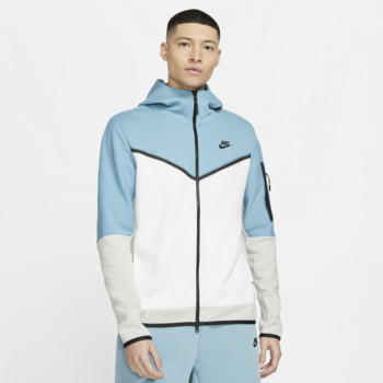 Nike Nike Men's Tech Fleece Jacket 'Cerulean/White/Heather Grey/Black' CU4489 424