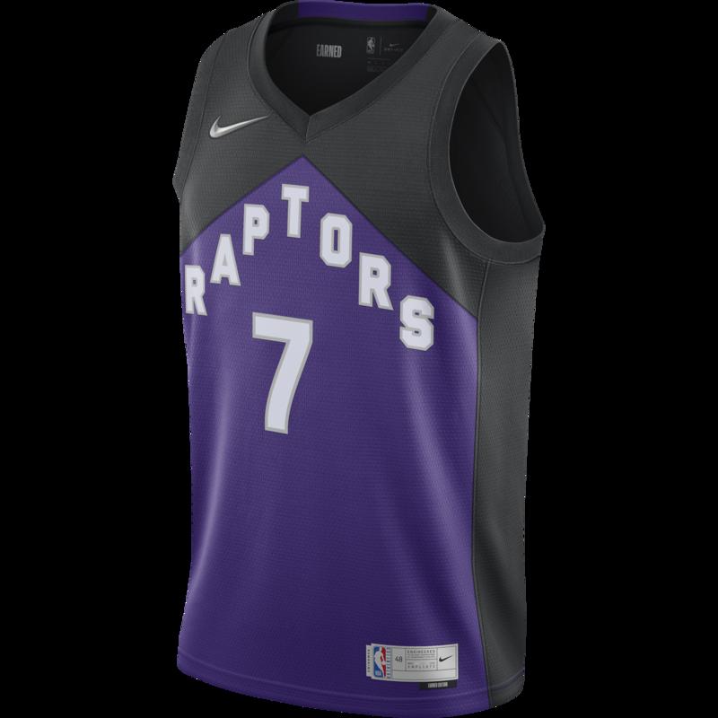 Nike Nike Toronto Raptor's Earned Edition Lowry Jersey Purple/Black CN9979 010