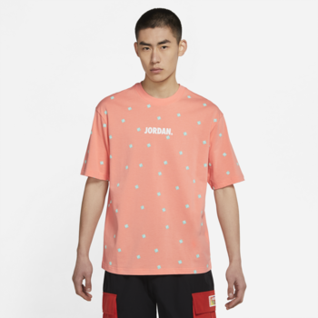 Air Jordan Air Jordan Men's Jumpman All Over Print Tshirt 'Coral' CZ5185 693