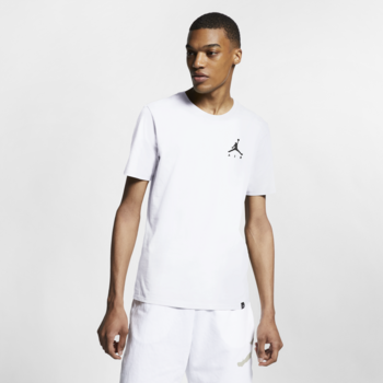 Air Jordan Air Jordan Men's Embroidered Jumpman T-shirt White  AH5296 100
