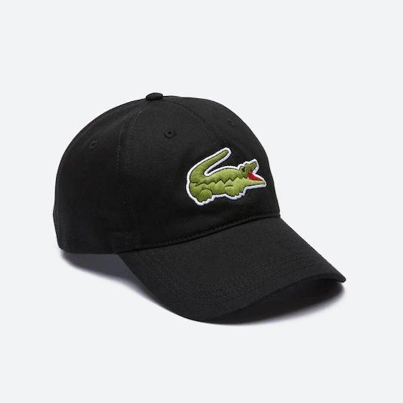 LACOSTE Lacoste Men's Oversize Croc Cap 'Black' RK4711 031