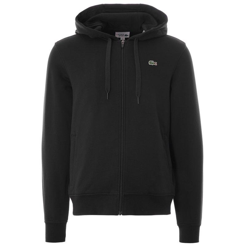 LACOSTE Lacoste Men's Sport Hooded Lightweight Bi-Material Sweatshirt 'Black' SH1551 C31