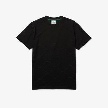 LACOSTE Lacoste Unisex LIVE Patch Cotton T-Shirt 'Black' TH9165  C31