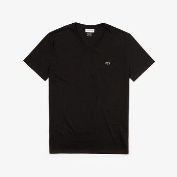 LACOSTE Lacoste Men's V-Neck Pima Cotton T-shirt 'Black' TH6710 031