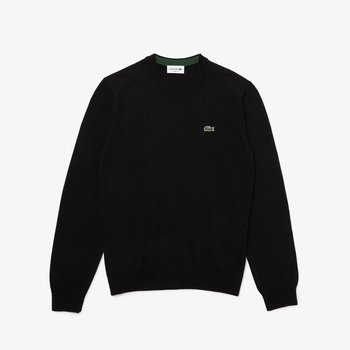 LACOSTE Lacoste Men's Organic Crew Neck Sweater 'Black' AH1985 031