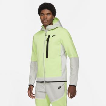 Nike Men's Tech Fleece Woven Hoodie Lime CZ9903 383