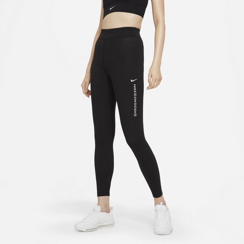 Nike Nike Women's High Rise Swoosh Leggings 'Black' CZ8901 010