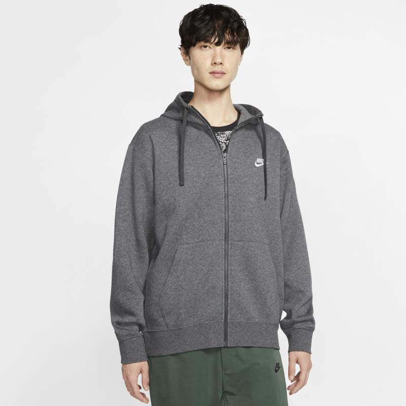 Nike Nike Sportswear Club Fleece Men's Full-Zip Hoodie 'Charcoal' BV2645 071