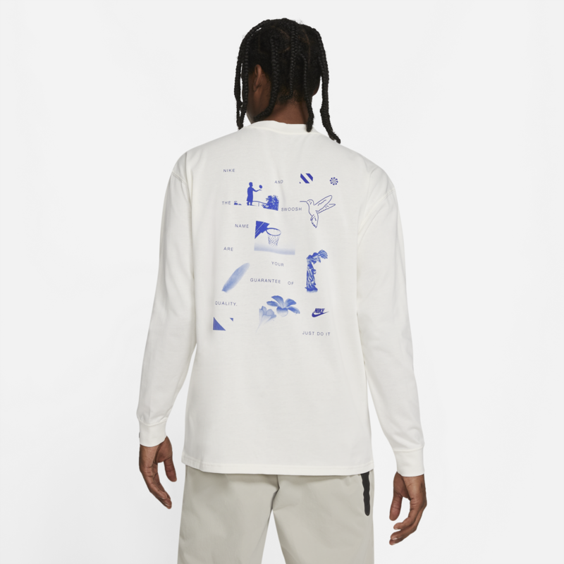 Nike Nike Men's Longsleeve Doodle Tee Cream DB6131 901