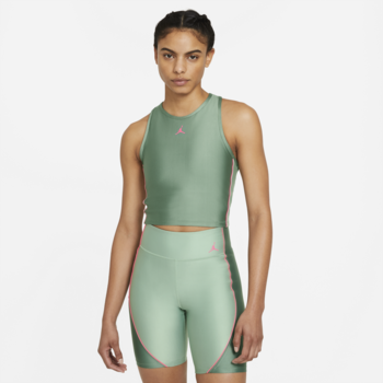 Air Jordan Air Jordan Women's Crop Top Dutch Green/Pink DD0283 353