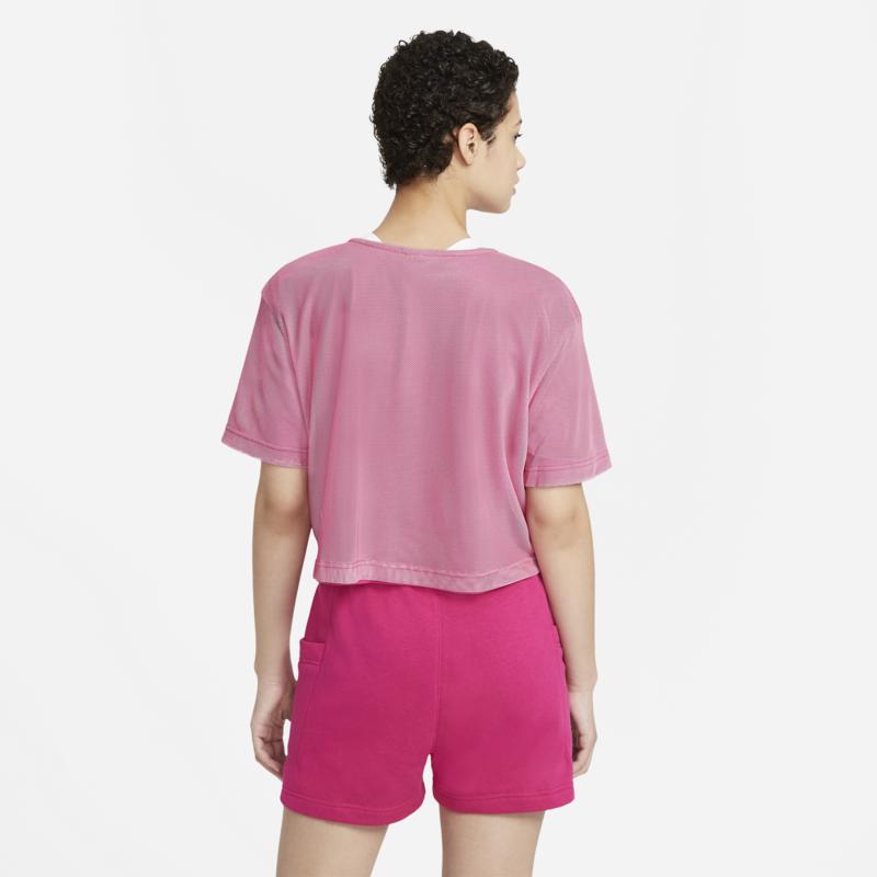 Nike Nike NSW Air Short Sleeve Mesh Top Pink/White CZ8624 615