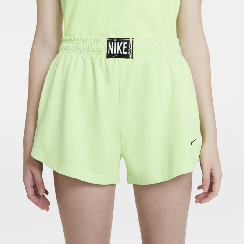 Women's Washed Shorts Nike Sportswear Ghost Green CZ9856 358