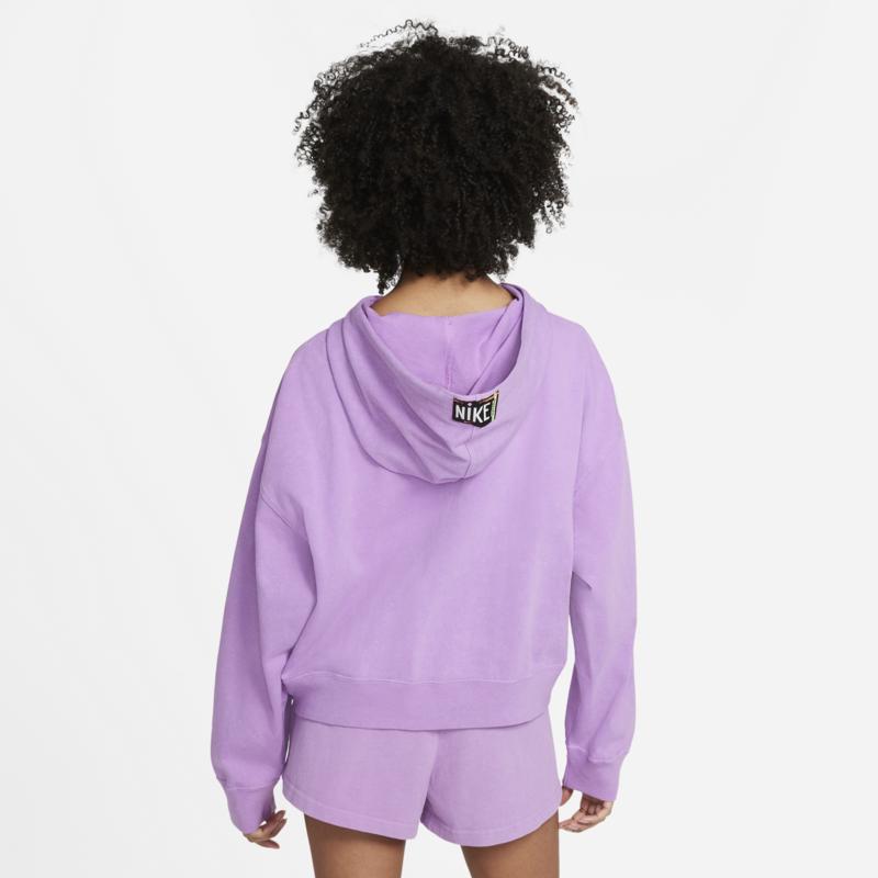 Nike Women's Washed Hoodie Nike Sportswear Purple CZ9854 597