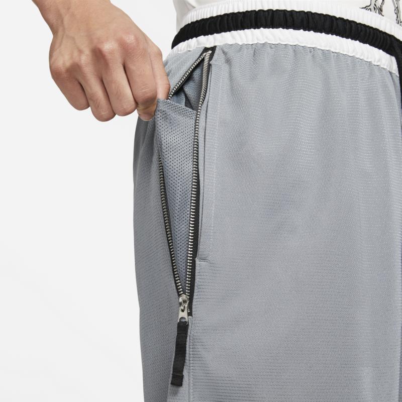 Nike Nike Mens Dri-fit Basketball Shorts Grey/White/Black CV1921 065