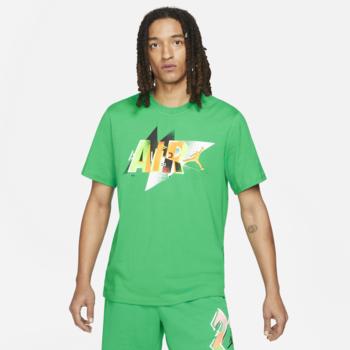 Air Jordan Air Jordan Jumpman Mens Short Sleeve Graphic T-shirt Green CZ8394 372