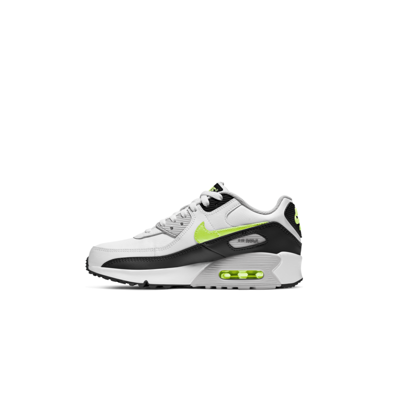 Nike Nike Air Max 90 LTR GS White/Hot-lime/Black CD6864 109