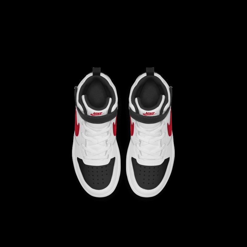 Nike Nike Court Borough Mid PS 'White/University Red-Black'  CD7783 110