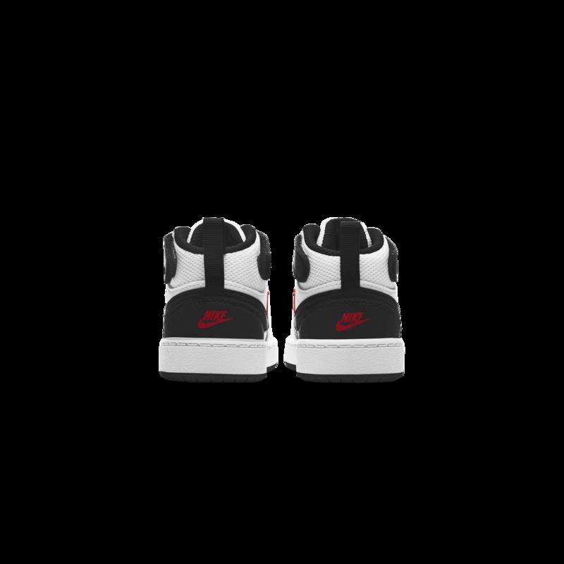 Nike Nike Court Borough Mid 2 Toddler White/University red-black CD7784 110