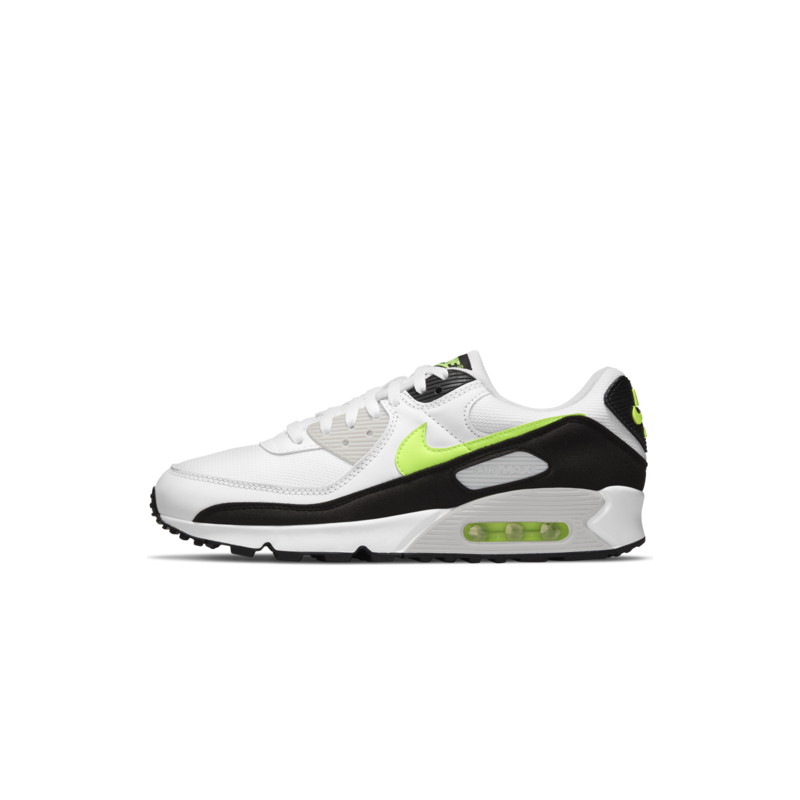 Nike Nike Men's Air Max 90 White/Hot-lime-black CZ1846 100