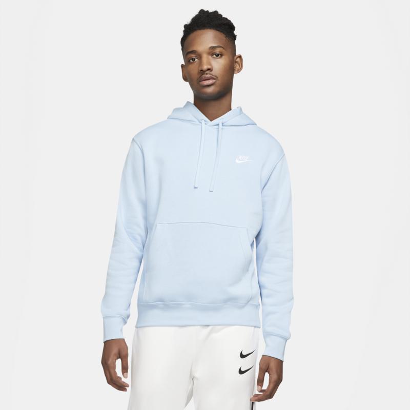 Nike Nike Men's Sportswear Club Fleece Pullover Hoodie 'Psychic Blue/White' BV2654 436