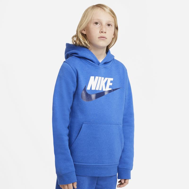 Nike Nike Kid's Club Fleece Hoodie Blue/White/Black CJ7861 481