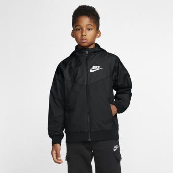 Nike Nike Kids Sportswear Windrunner Hooded Jacket Black/White 850443 011