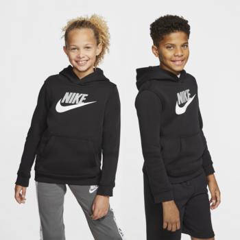 Nike Nike Kid's Club Fleece Hoodie Black/White CJ7861 011