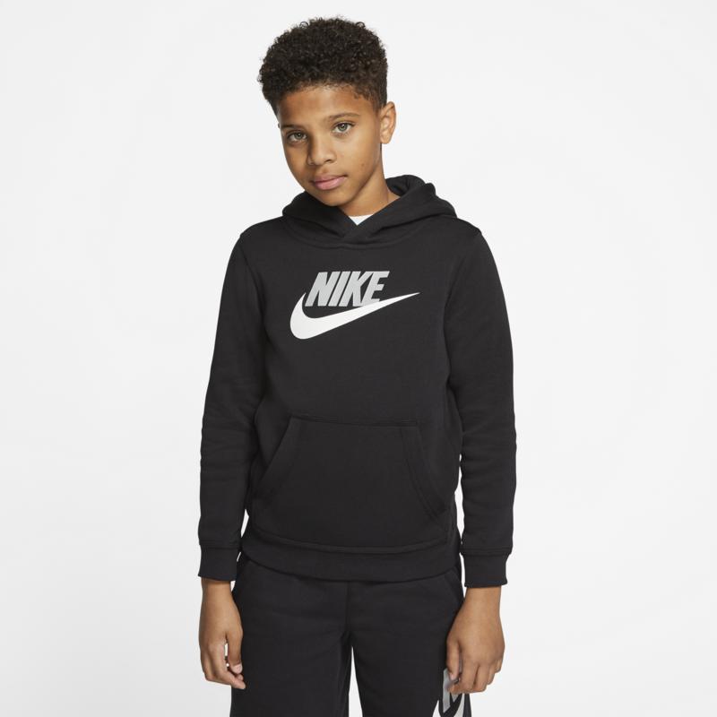 Nike Nike Kid's Club Fleece Hoodie Black/White CJ7861 010