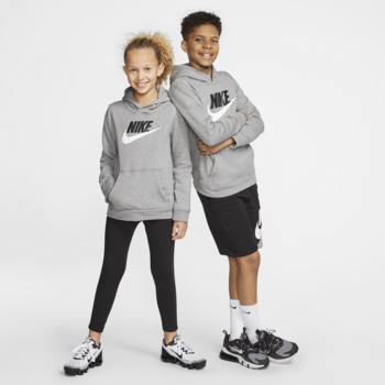 Nike Nike Kid's Club Fleece Hoodie Grey/White/Black CJ7861 091