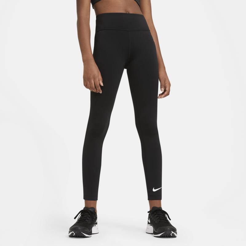 Nike Nike One Girls High Waisted Training Leggings Black CZ2550 010