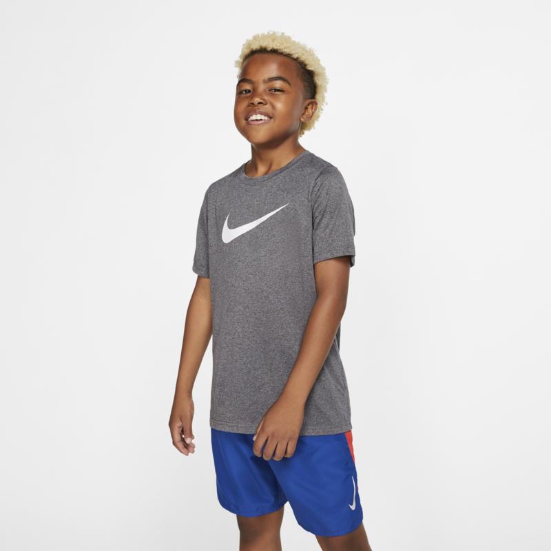 Nike Nike Boys Dri-Fit Swoosh Training T Shirt Grey/white AR5307 071