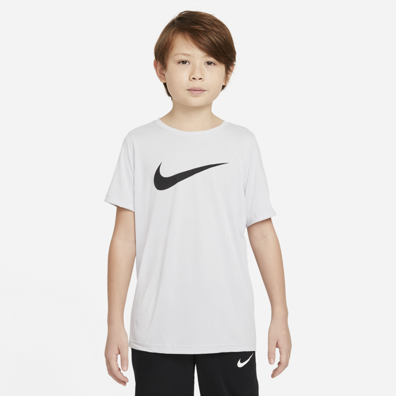 Nike Nike Boys Dri Fit Swoosh T Shirt Birch/Black AR5307 210