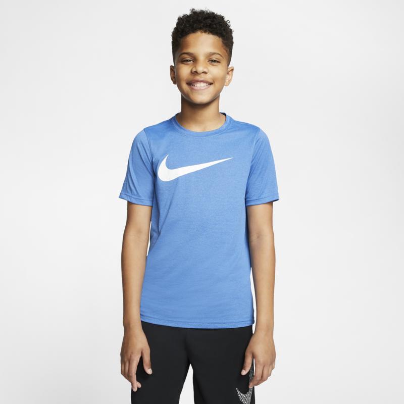 Nike Nike Boys Dri Fit Swoosh T-Shirt Blue/White/Black AR5307 456