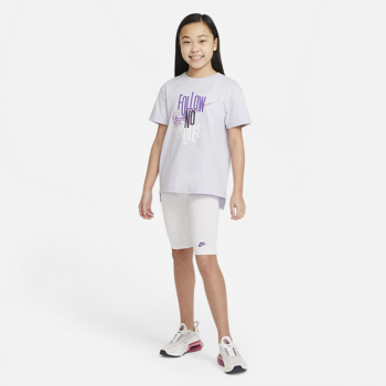 Nike Nike Girls Graphic Tee Mauve/Lime Green DH5914 530
