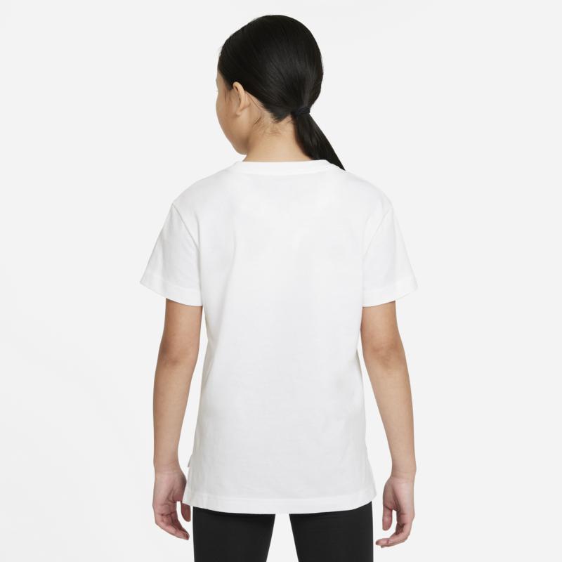 """Nike Nike Girls Graphic Tee """"Follow"""" White/Black/Pink DH5914 100"""