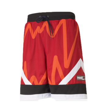 Puma Men's Basketball Jaws Mesh Shorts American Beauty 530508 05
